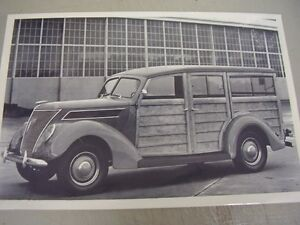 1937 Ford Woody Station Wagon 12 X 18 Large Picture Photo