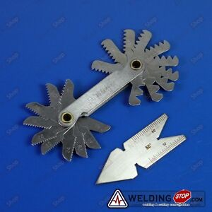 Screw Thread Pitch Cutting Gauge Tool Inpection Set centre Gage 55 Inch 2pcs