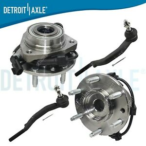 2003 2009 Chevy Trailblazer Gmc Envoy Front Wheel Bearing Hub Outer Tierod 4pc