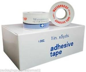 Waterproof Non irritating Adhesive Tape 1 X 5 Yds 1 Carton 48 Rolls Ms15150