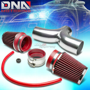For Dodge Suv Pickup Truck 3 7 4 7 V8 Short Ram Dual Intake Pipe Red Air Filter