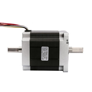Stepper Motor Nema34 Dual Shaft 878oz in 2a 8wires By Bipolar 98mm Length Longs
