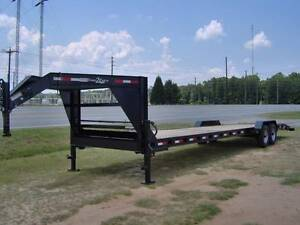 34 Car Hauler Equipment Utility Trailer 2 3 Wood Deck Gooseneck I Beam Frame New