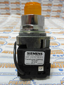 Siemens 52pt6g9a Push To Test Pilot Light Transformer Type 120 Volts Ac