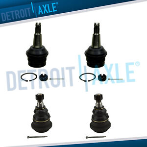 4pc Front Upper Lower Ball Joint Set For 1994 1995 1996 Dodge Ram 1500 2wd Rwd