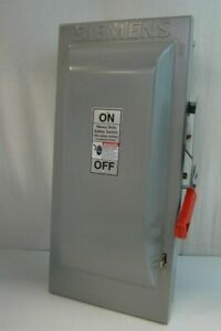 Siemens Heavy Duty Safety Switch 600volts Ac Maximum Indoor 100 Amps Max Hf363
