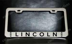 Lincoln License Plate Frame Custom Made Of Chrome Plated Metal