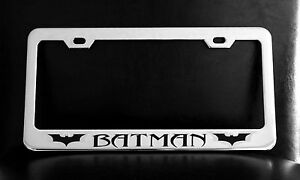 Batman Dark Knight Rises License Plate Frame Custom Made Of Chrome Plated Metal