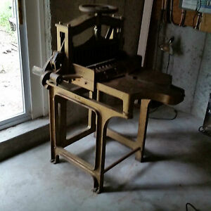 Antique Paper Cutter national Highland M c h Co H c Hansen Type Foundry