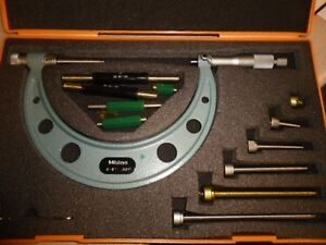 Mitutoyo 0 6 001 Micrometer Set 2 Units Available Needs Calibration
