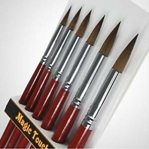 New Office Artists Paintbrushes Top Quality Red Sable Mix Long Handle Round Pai