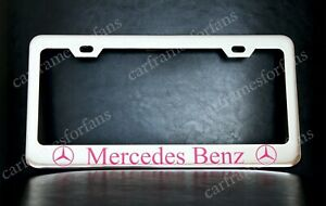 Pink Mercedes Benz License Plate Frame Custom Made Of Chrome Plated Metal