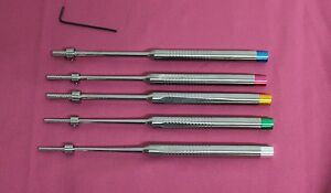 Set Of 5 Sinus Osteotomes Offset Concave Tip Straight Implant Dental Instruments