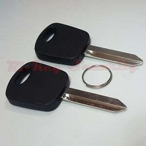 2 New Replacement Transponder Blank Chip Keys For Ford Mercury H73 692055 Tex 4c