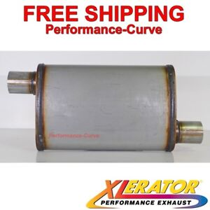 "2.25/"" O//C Performance 18/"" Muffler MAX FLOW Stainless Steel 5x8 MF2255"