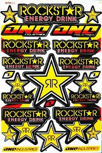 Rockstar Energy Sticker Motocross Bike Graphic Kits Decal Buy 2 Get 1 Free R5