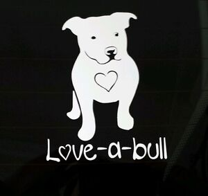 I Love My Pitbull Dog Ipad Vinyl Car Window Decal Sticker Love A Bull Pit Bull