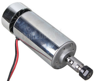 400w Dc Spindle Motor Brush High Speed Air cooled Chrome Plated Pcb Motor