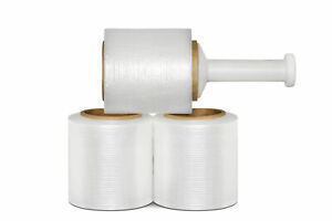 Pre stretch Banding Shrink Wrap 5 X 1000 X 8 5 Mic Clear Plastic Film 12 Rolls