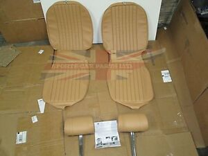 New Seat Covers Upholstery Mgb 1973 80 Made In Uk Headrests Biscuit