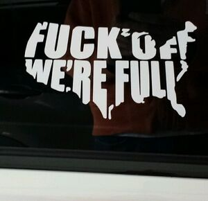 Usa F Off We Re Full Vinyl Decal Sticker Car Truck Window Funny Country