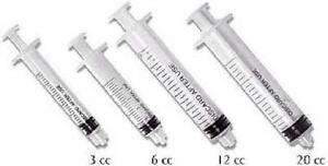 Plasdent Luer Lock Disposable Irrigation Syringes 3cc 100 bx