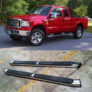 For 99 16 Ford F250 Extended Super Cab Aluminum Nerf Bars Side Step Oe Style 5