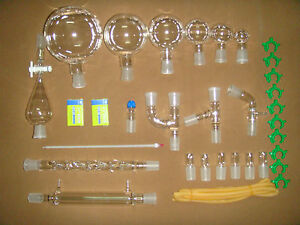 30pcs new Chemistry Glassware Kit labora tory Glass Kit w 24 29 Ground Joint