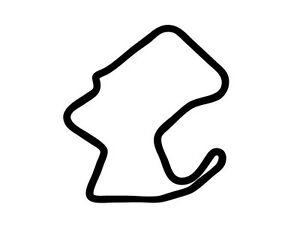 Laguna Seca Mazda Raceway Decal Sticker Outline Vinyl Race Track Car Motorcycle