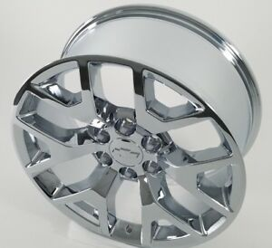 20 Gmc Chevy Wheels 2014 Tahoe 1500 Sierra Suburban Rims Chrome 5656 Set Of 4