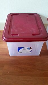 Office Depot Brand Stackable File Tote Box Letter legal Size Used Variety