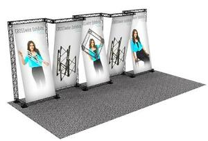 Portable Trade Show Truss Display Booth Custom 10 X 20 Crosswire Exhibit