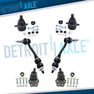 1997 1998 1999 Dodge Dakota 2wd Upper Lower Ball Joint Front Sway Bar Link Kit