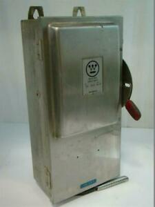 Westinghouse Heavy Duty Stainless Safety Switch 600v Ac 100amp Whu 363