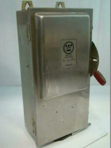 Westinghouse Heavy Duty Stainless Safety Switch 100a 600v Ac 75hp Whu 363