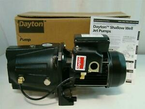 Dayton Shallow Well Jet Pump 1hp 115v 10 5a 4tb34