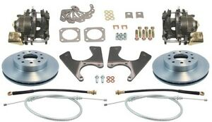 Staggered Gm 10 12 Bolt Rear End Disc Brake Conversion Kit Standard Rotors