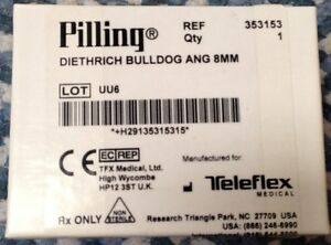 Pilling Surgical Diethrich Bulldog Ang 8mm Bulldog Clip