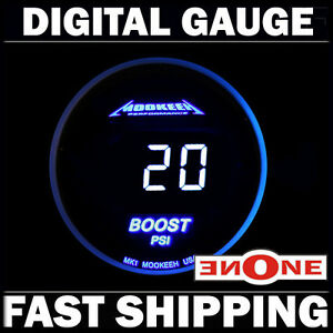 Mookeeh Mk1 Turbo Boost Vacuum Psi Gauge With Cool Blue Digital Readout