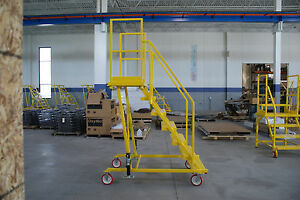 Nd 70 Satety Rolling Ladder osha Compliant