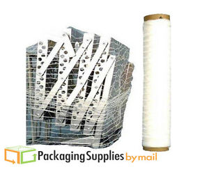 Netted Shrink Wrap 20 X 3000 X 80 Ga Cast Hand Bundling Film Clear 5 Rolls