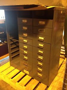 Parts Bin Storage Cabinet 36 X 30 X 12 Missing Bins