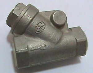 Oic Stainless Steel Ss 45 Degree 1 2 Check Valve Cf8m 200 Fig 103 Nos