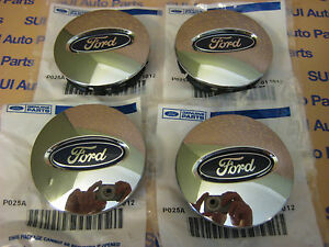Ford Focus Taurus Escape Edge Fusion Flex Explorer Chrome Center Caps New Oem 4
