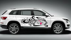 Hello Kitty Tribal Design Decal Graphic Vinyl Side Car Truck 2 60x23