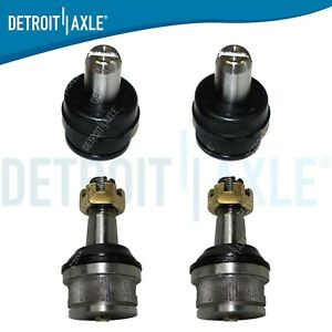 Set 4 Front Ball Joints 2 New Upper 2 New Lower 1987 1996 F150 2wd F 150