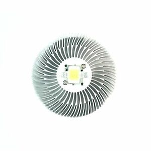 2pcs 90x10mm Round Spiral Aluminum Alloy Heat Sink For 1w 10w Led Silver White