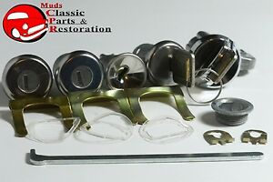 68 Nova Chevelle Ignition Door Trunk Glovebox Locks Original Keys Gm Logo Chevy