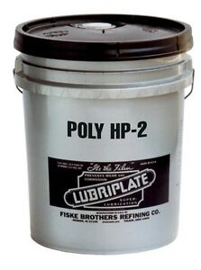 Lubriplate Poly Hp 2 L0191 035 Polyurea thickened Type Grease 35 Lb Pail