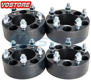 4 2 Inch 5x4 5 Black Wheel Spacers Adapters Fits Ford Mustang Ranger Explorer